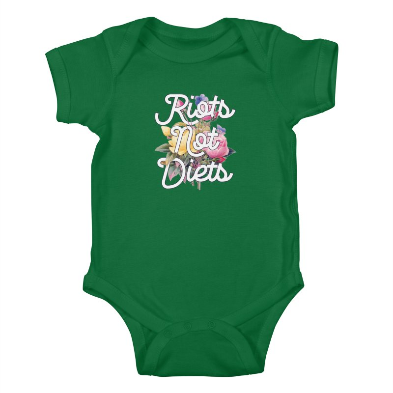 Riots Not Diets Kids Baby Bodysuit by BadNewsB