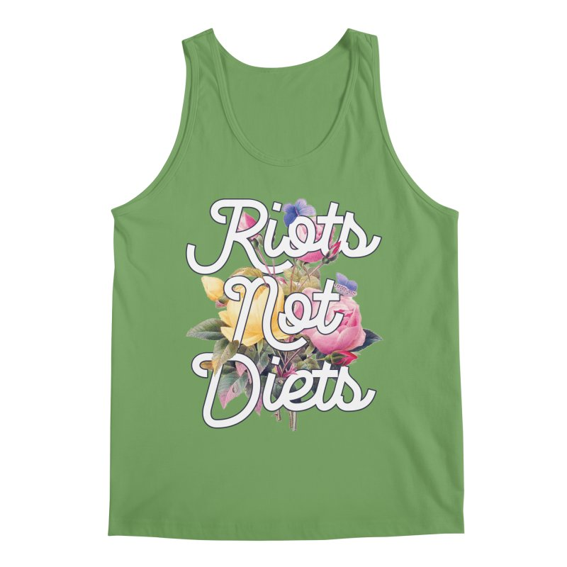 Riots Not Diets Men's Tank by BadNewsB