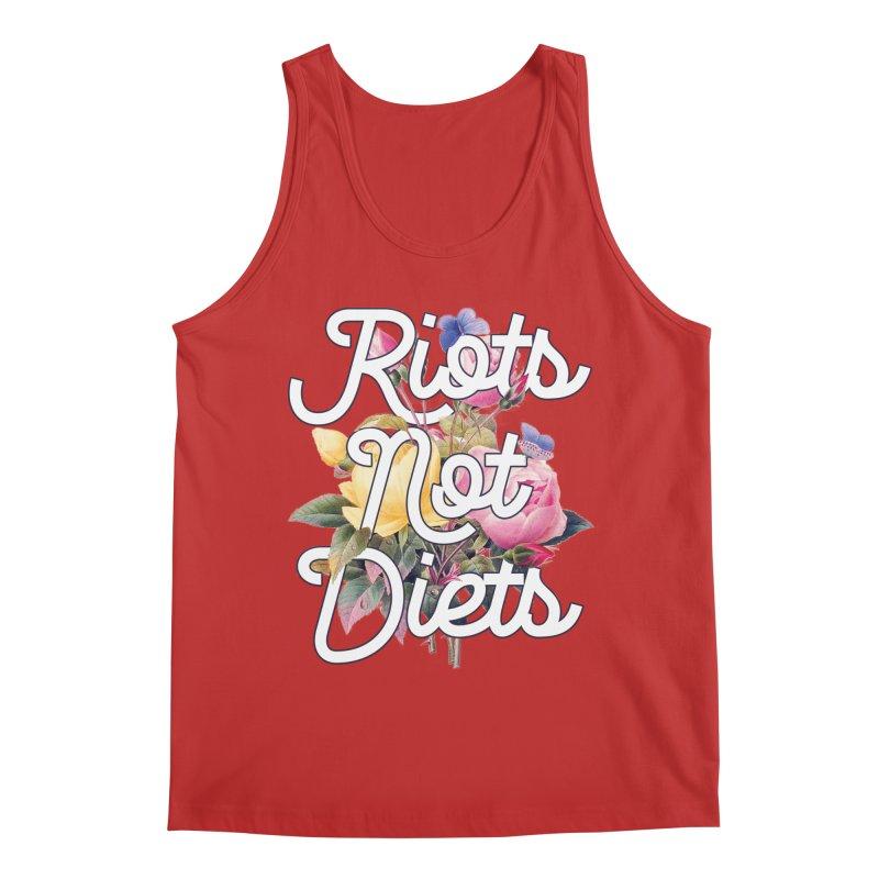Riots Not Diets Men's Tank by BadNewsB