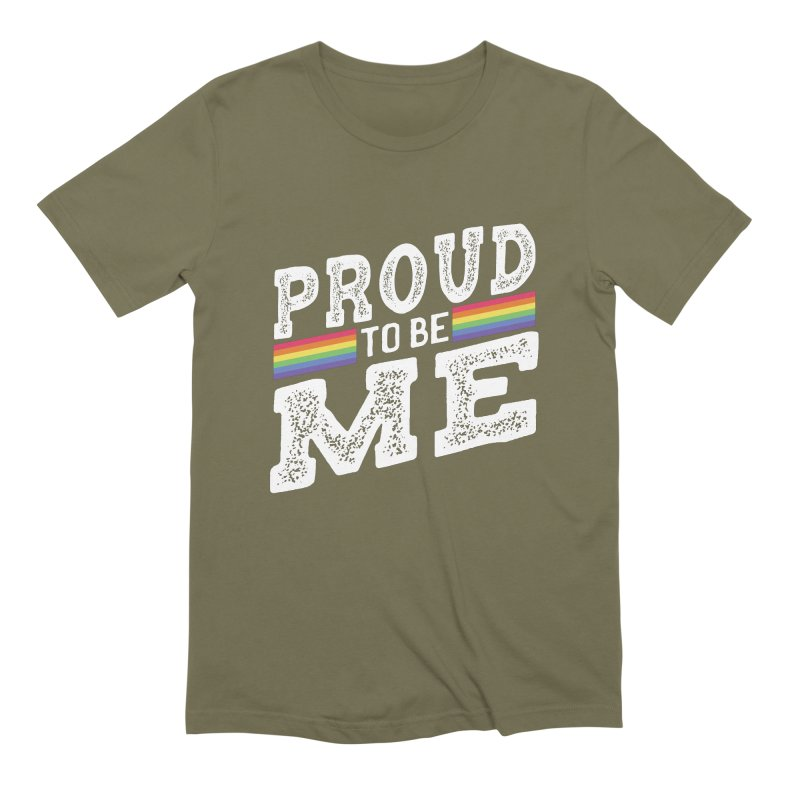 Proud To Be Me LGBTQ+ Men's Extra Soft T-Shirt by The Bearly Brand