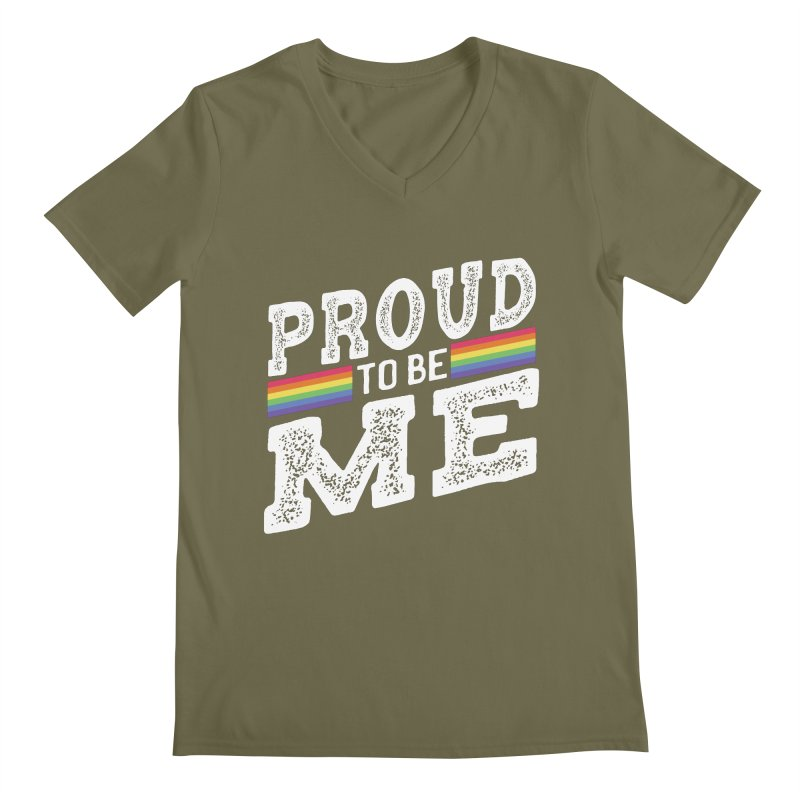 Proud To Be Me LGBTQ+ Men's Regular V-Neck by The Bearly Brand