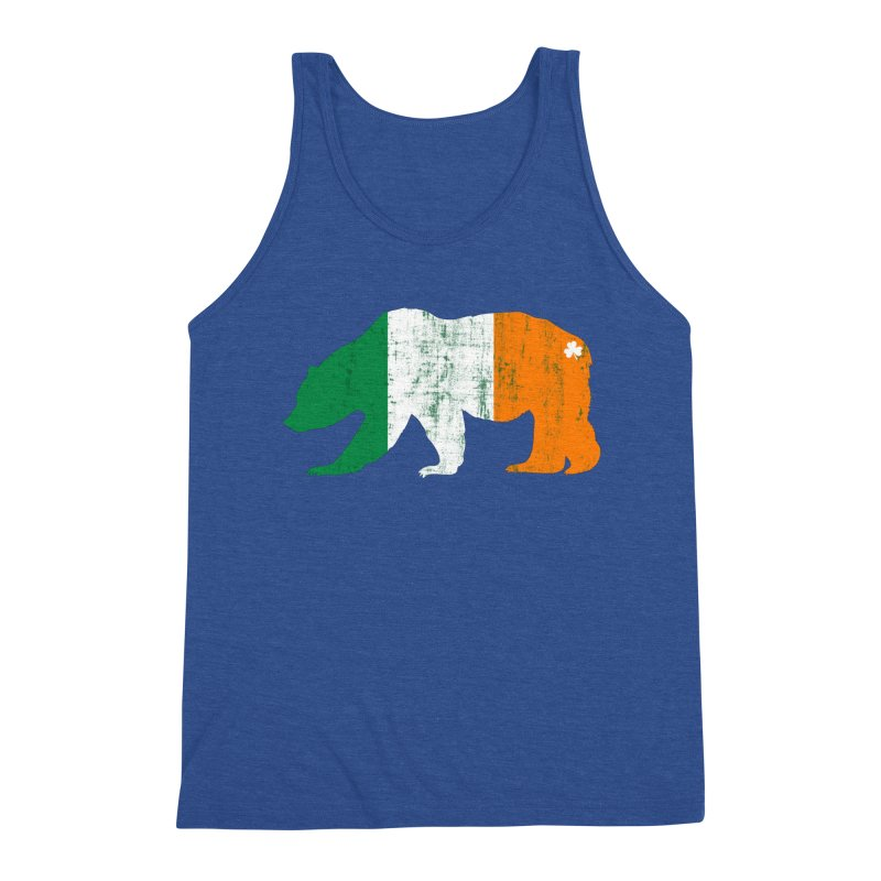 Irish Pride Bear Men's Triblend Tank by The Bearly Brand