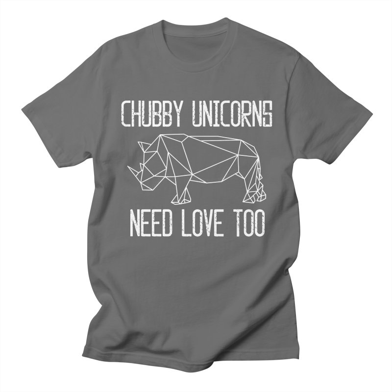 Chubby Unicorns Need Love Too Geometric Rhino Men's T-Shirt by The Bearly Brand