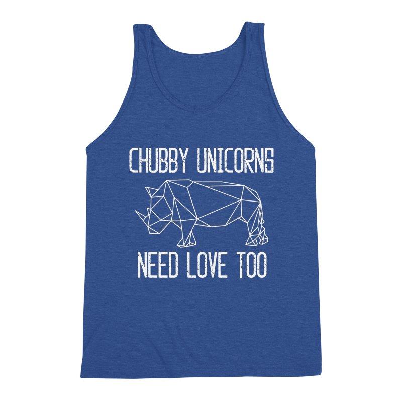 Chubby Unicorns Need Love Too Geometric Rhino Men's Tank by The Bearly Brand