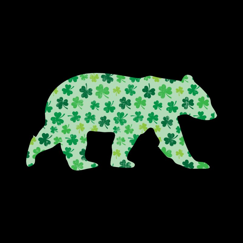Clover Bear for St Patricks Day Green Vintage Lucky Home Fine Art Print by The Bearly Brand