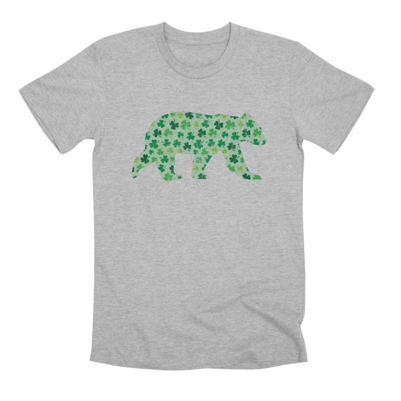 Clover Bear for St Patricks Day Green Vintage Lucky Men's T-Shirt by The Bearly Brand