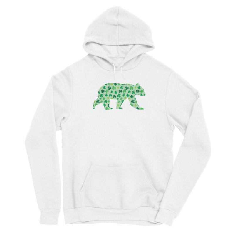 Clover Bear for St Patricks Day Green Vintage Lucky Men's Pullover Hoody by The Bearly Brand