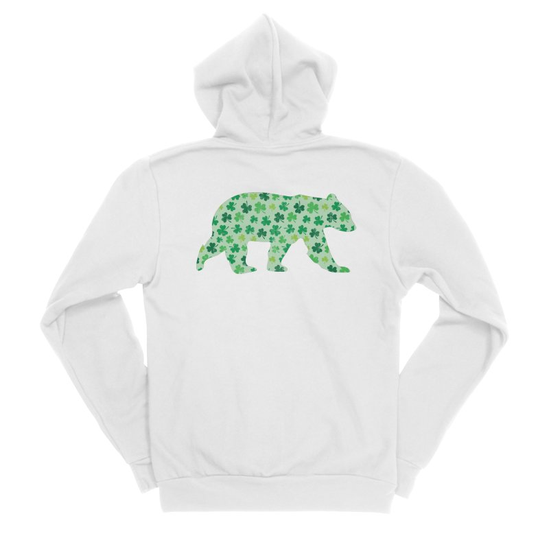 Clover Bear for St Patricks Day Green Vintage Lucky Men's Zip-Up Hoody by The Bearly Brand