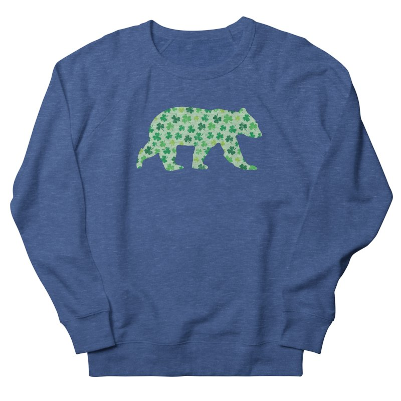 Clover Bear for St Patricks Day Green Vintage Lucky Men's Sweatshirt by The Bearly Brand