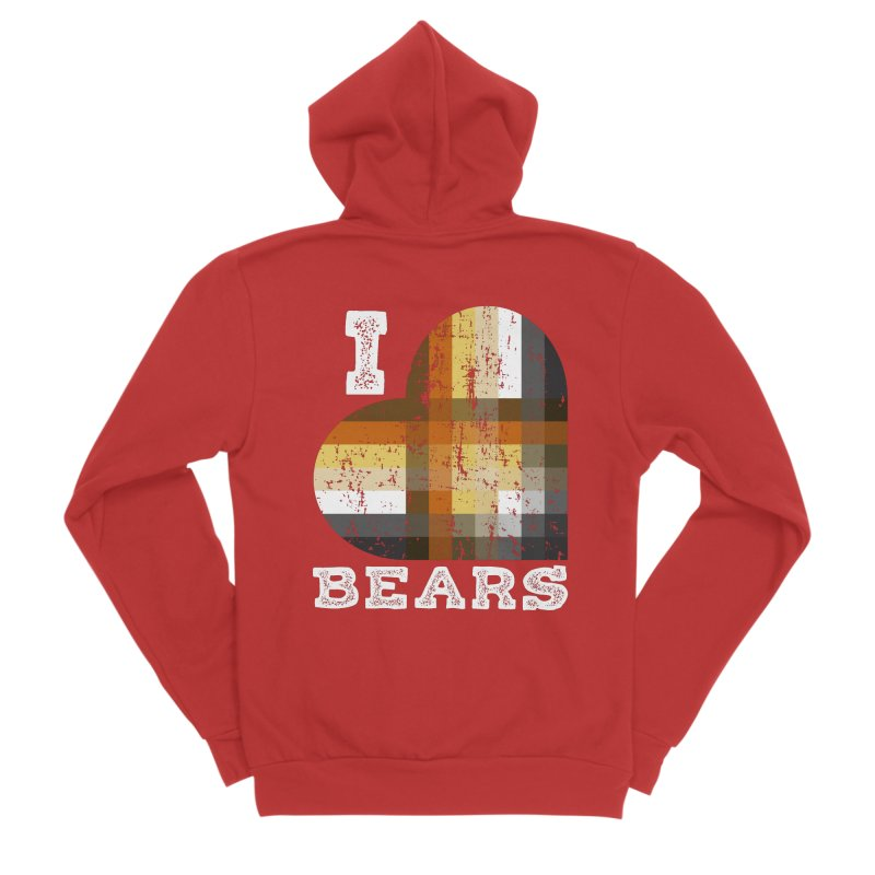 I Love Bears for Gay Bears and Bear Admirers or Chasers Men's Zip-Up Hoody by The Bearly Brand