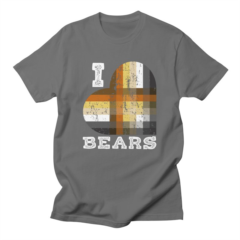 I Love Bears for Gay Bears and Bear Admirers or Chasers Men's T-Shirt by The Bearly Brand