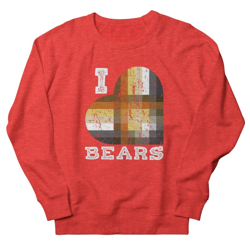 I Love Bears for Gay Bears and Bear Admirers or Chasers Men's Sweatshirt by The Bearly Brand