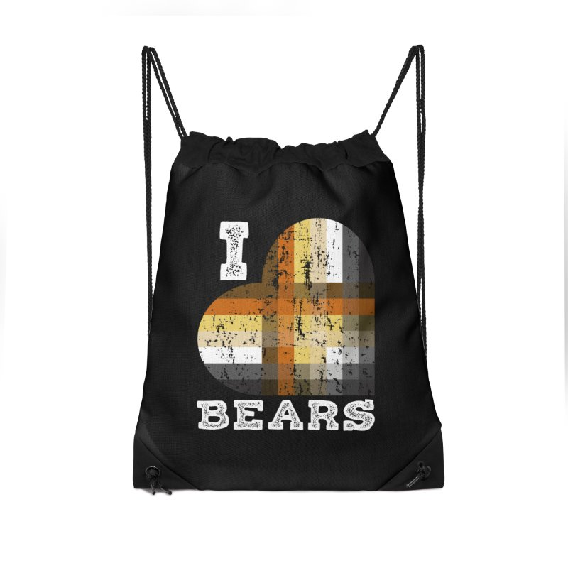 I Love Bears for Gay Bears and Bear Admirers or Chasers Accessories Bag by The Bearly Brand