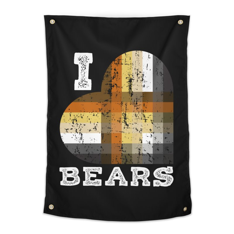 I Love Bears for Gay Bears and Bear Admirers or Chasers Home Tapestry by The Bearly Brand