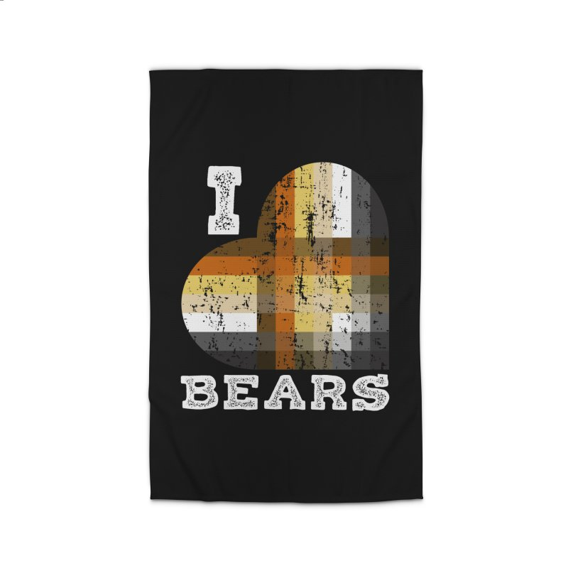 I Love Bears for Gay Bears and Bear Admirers or Chasers Home Rug by The Bearly Brand