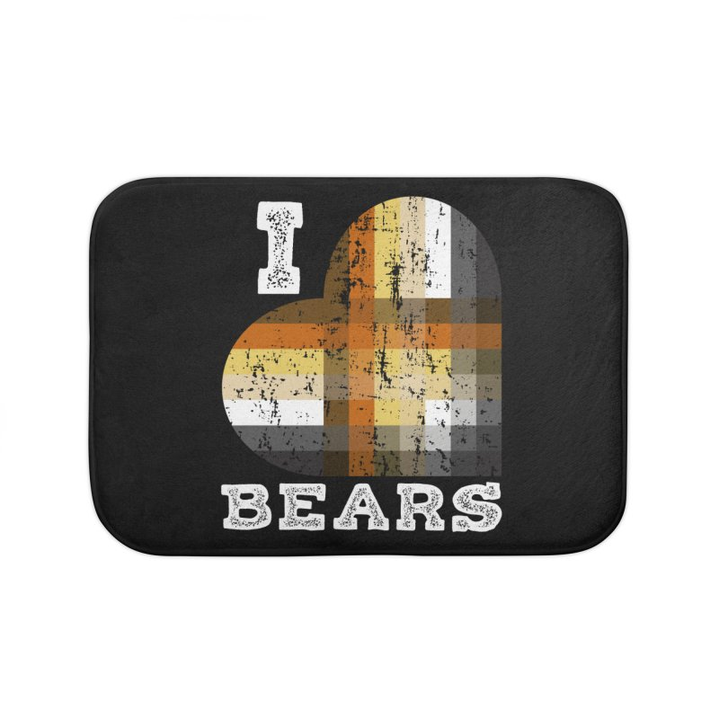 I Love Bears for Gay Bears and Bear Admirers or Chasers Home Bath Mat by The Bearly Brand