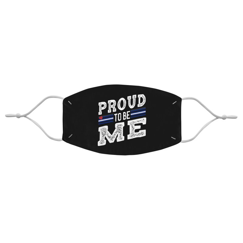 Proud to Be Me Leather Gay Pride LGBTQ Accessories Face Mask by The Bearly Brand