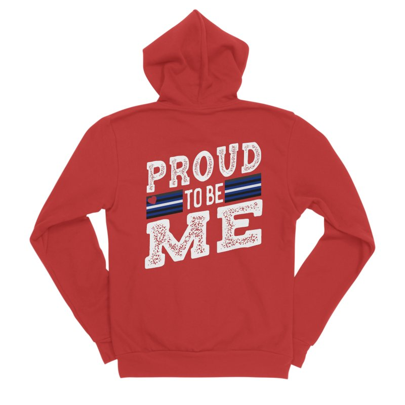 Proud to Be Me Leather Gay Pride LGBTQ Women's Zip-Up Hoody by The Bearly Brand
