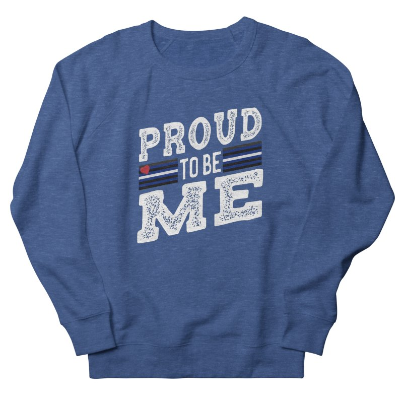 Proud to Be Me Leather Gay Pride LGBTQ Women's Sweatshirt by The Bearly Brand