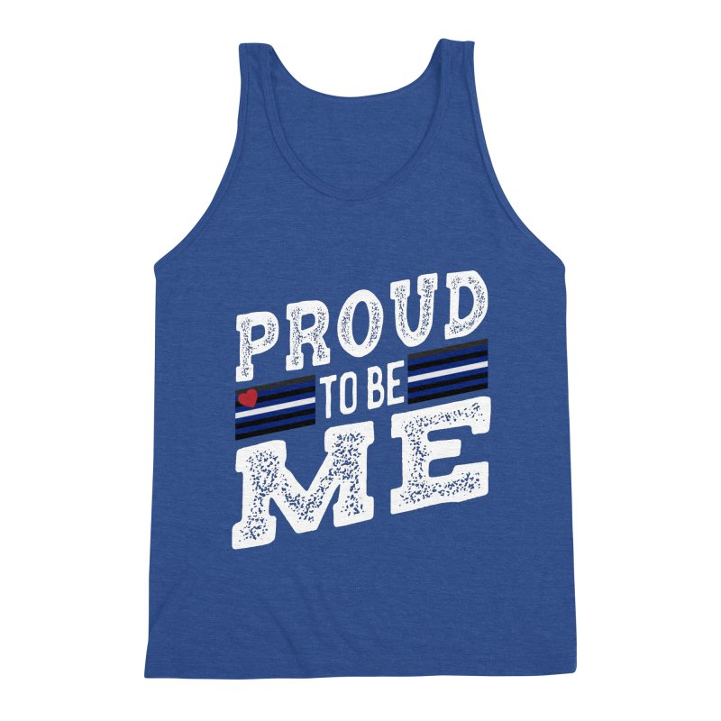 Proud to Be Me Leather Gay Pride LGBTQ Men's Tank by The Bearly Brand