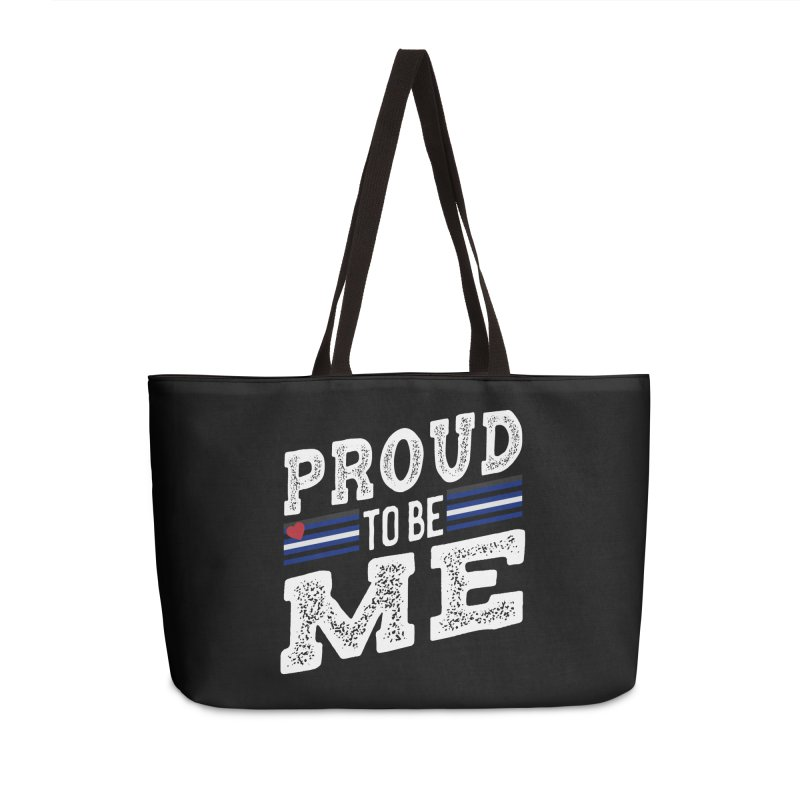 Proud to Be Me Leather Gay Pride LGBTQ Accessories Bag by The Bearly Brand