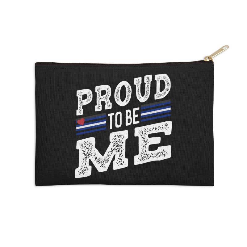 Proud to Be Me Leather Gay Pride LGBTQ Accessories Zip Pouch by The Bearly Brand