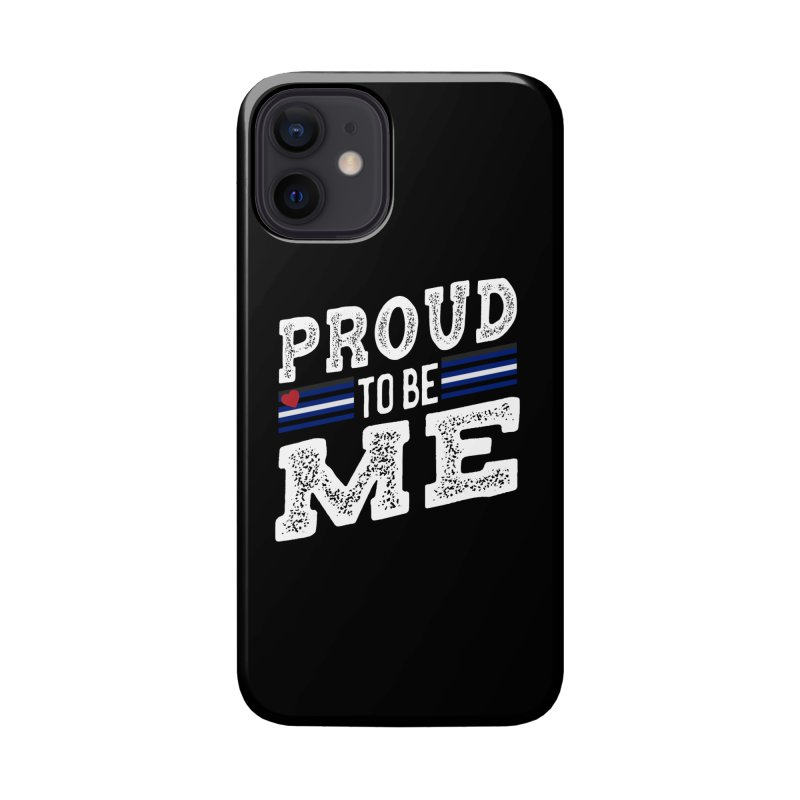 Proud to Be Me Leather Gay Pride LGBTQ Accessories Phone Case by The Bearly Brand