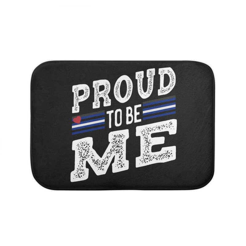 Proud to Be Me Leather Gay Pride LGBTQ Home Bath Mat by The Bearly Brand
