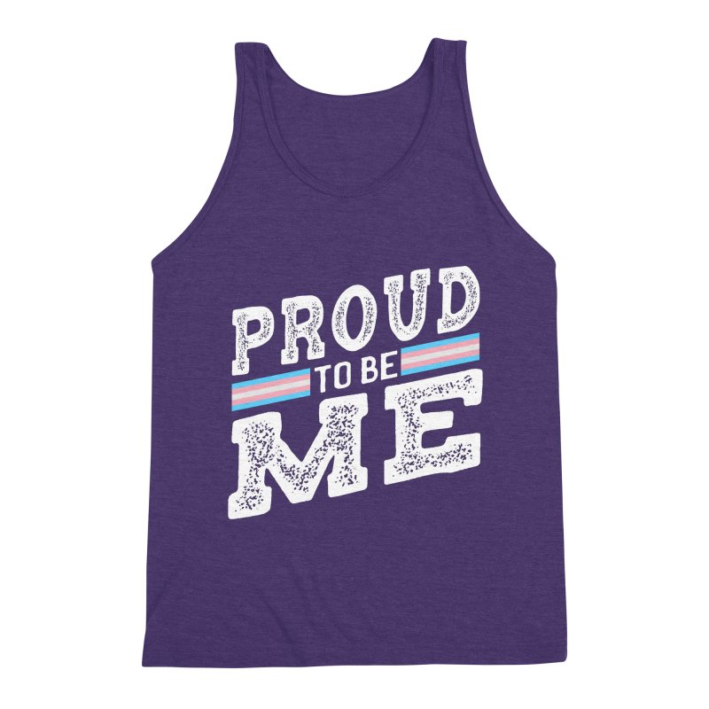 Proud to Be Trans Pride LGBT Transgender Men's Tank by The Bearly Brand