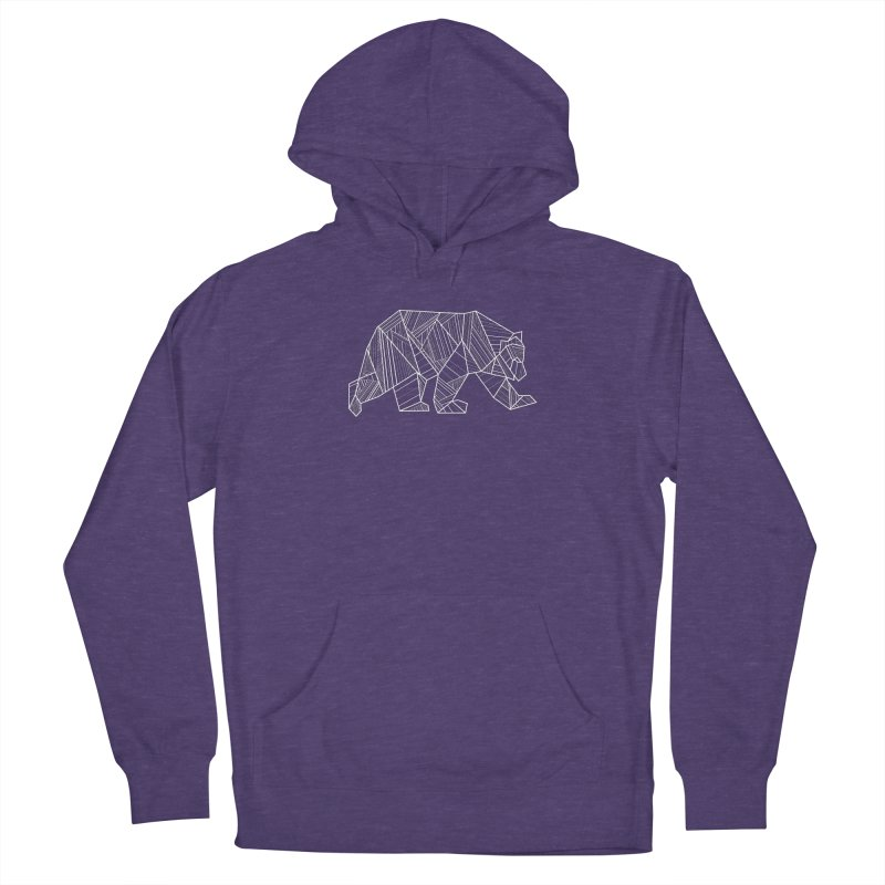 White Geometric Bear for Bear Lovers and Friends Men's Pullover Hoody by The Bearly Brand
