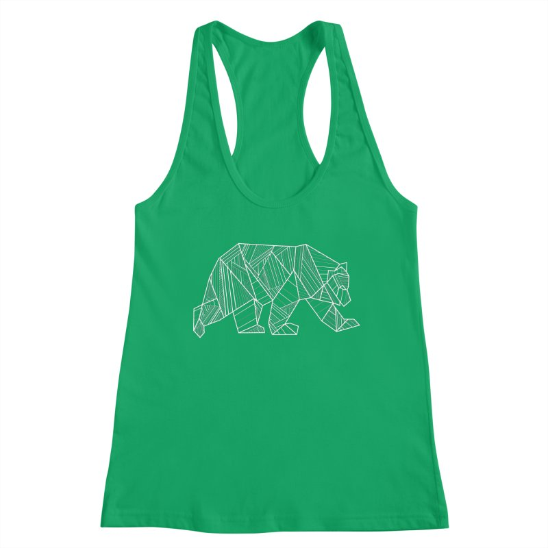 White Geometric Bear for Bear Lovers and Friends Women's Tank by The Bearly Brand