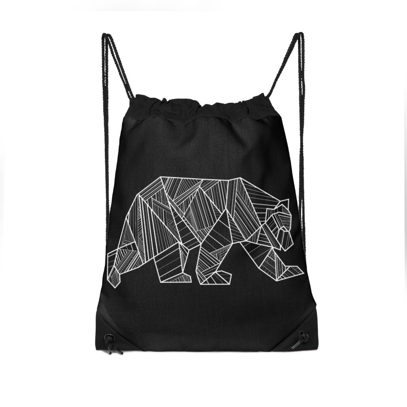 White Geometric Bear for Bear Lovers and Friends Accessories Bag by The Bearly Brand