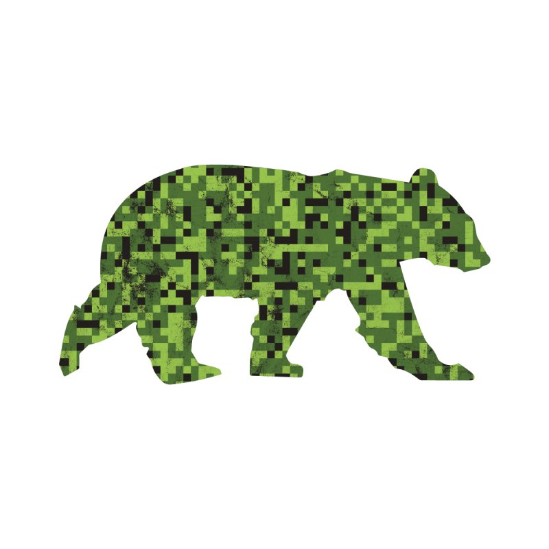 8bit Camouflage Bear by The Bearly Brand