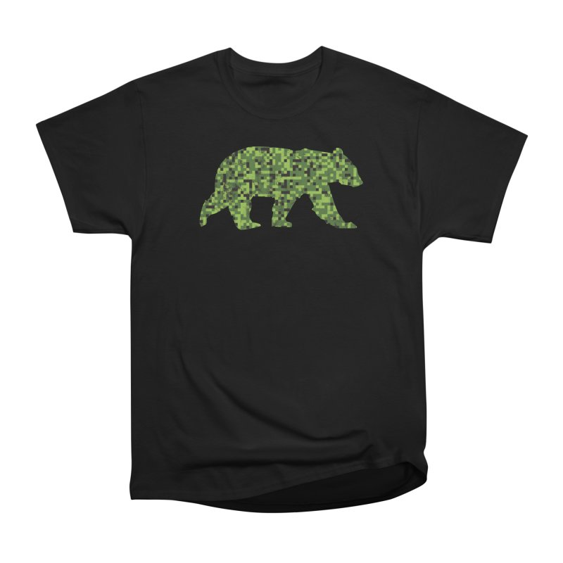 8bit Camouflage Bear Men's T-Shirt by The Bearly Brand