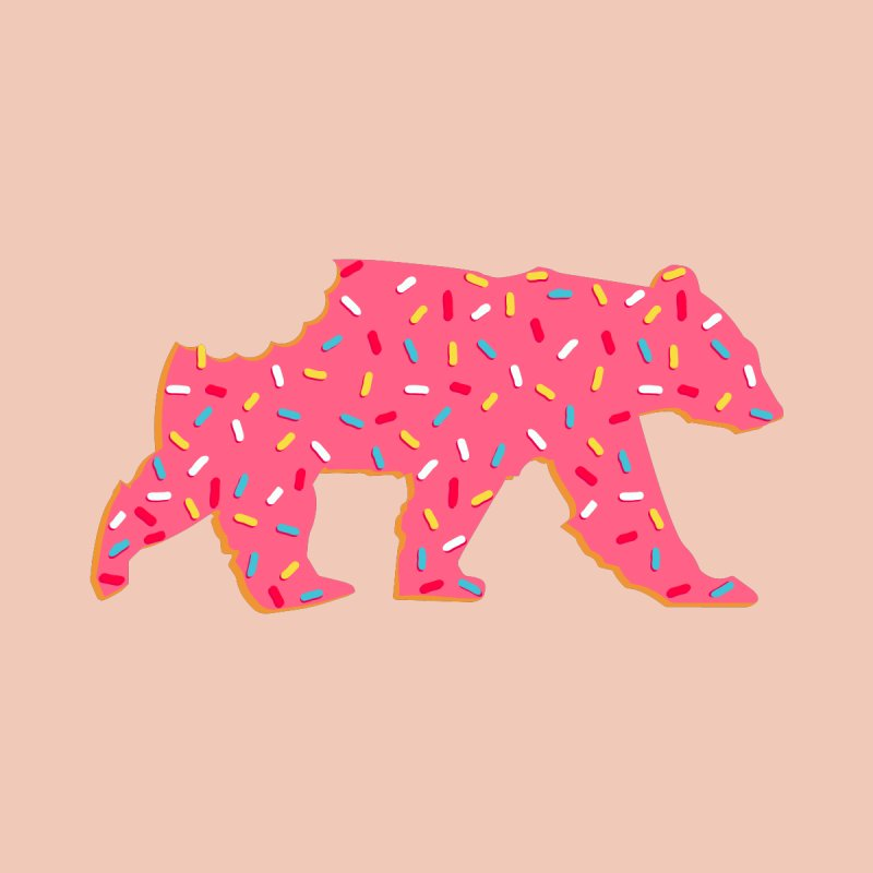 Frosted Circus Animal Cookie Bear with Sprinkles Women's Longsleeve T-Shirt by The Bearly Brand
