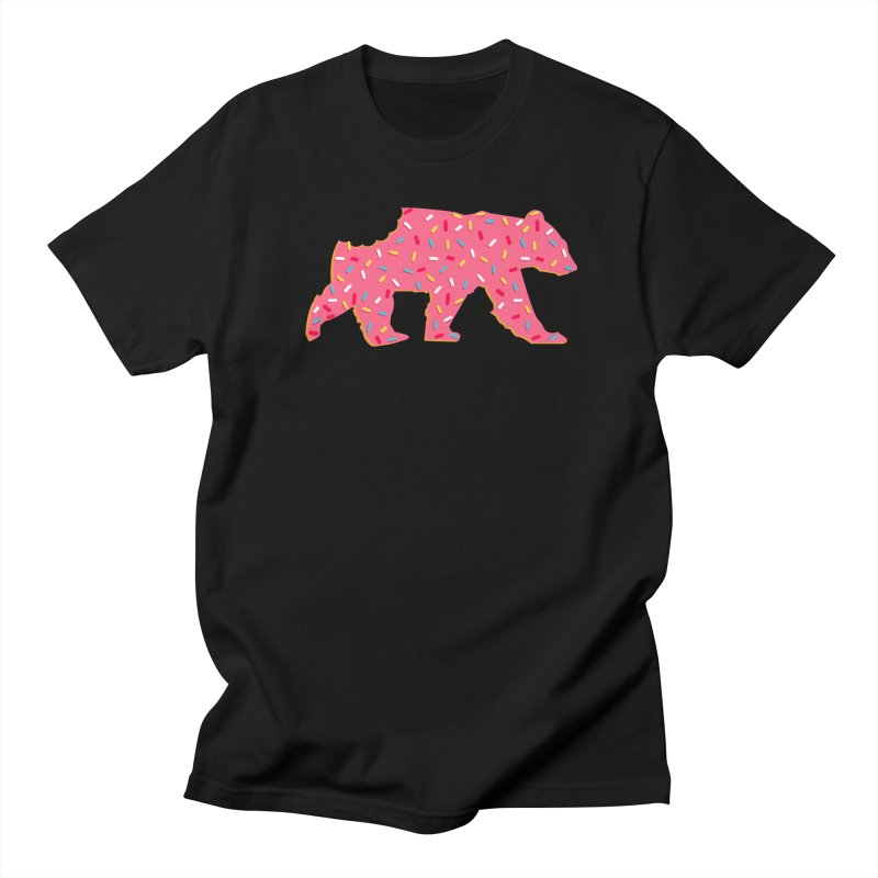 Animal Cracker Bear in Men's T-Shirt Black by The Bearly Brand