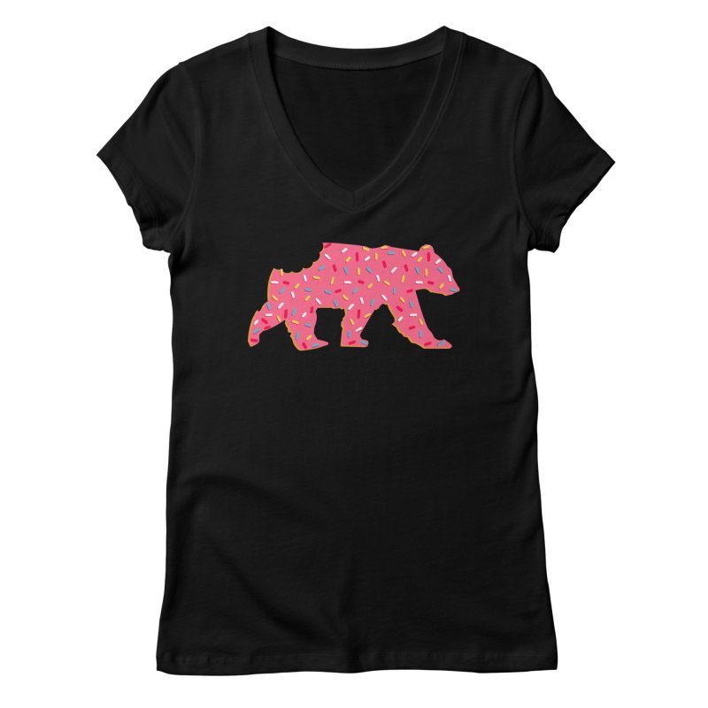 Frosted Circus Animal Cookie Bear with Sprinkles Women's V-Neck by The Bearly Brand