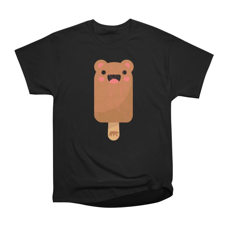 Bear Popsicle in Men's Heavyweight T-Shirt Black by The Bearly Brand