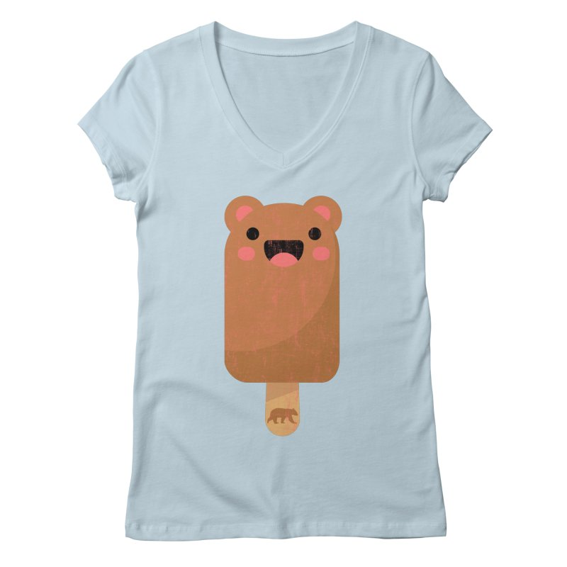 Cute Bear Popsicle for Bear Lovers and Admirers Women's V-Neck by The Bearly Brand