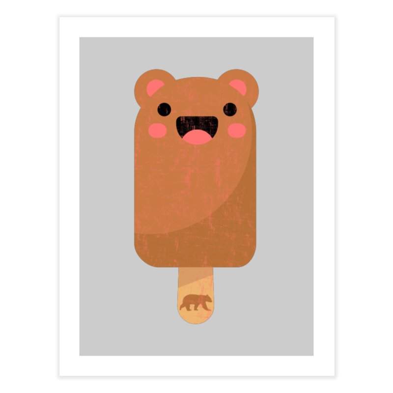 Cute Bear Popsicle for Bear Lovers and Admirers Home Fine Art Print by The Bearly Brand