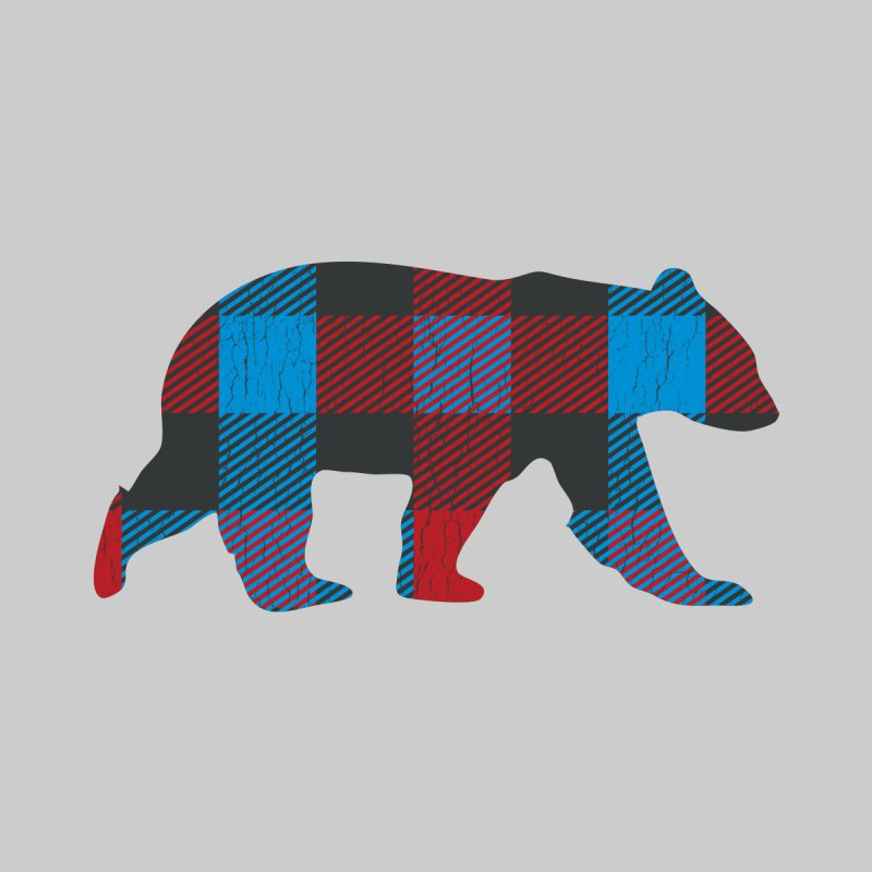 Bright Flannel Vintage Bear for Gay Bears and Chasers Men's T-Shirt by The Bearly Brand