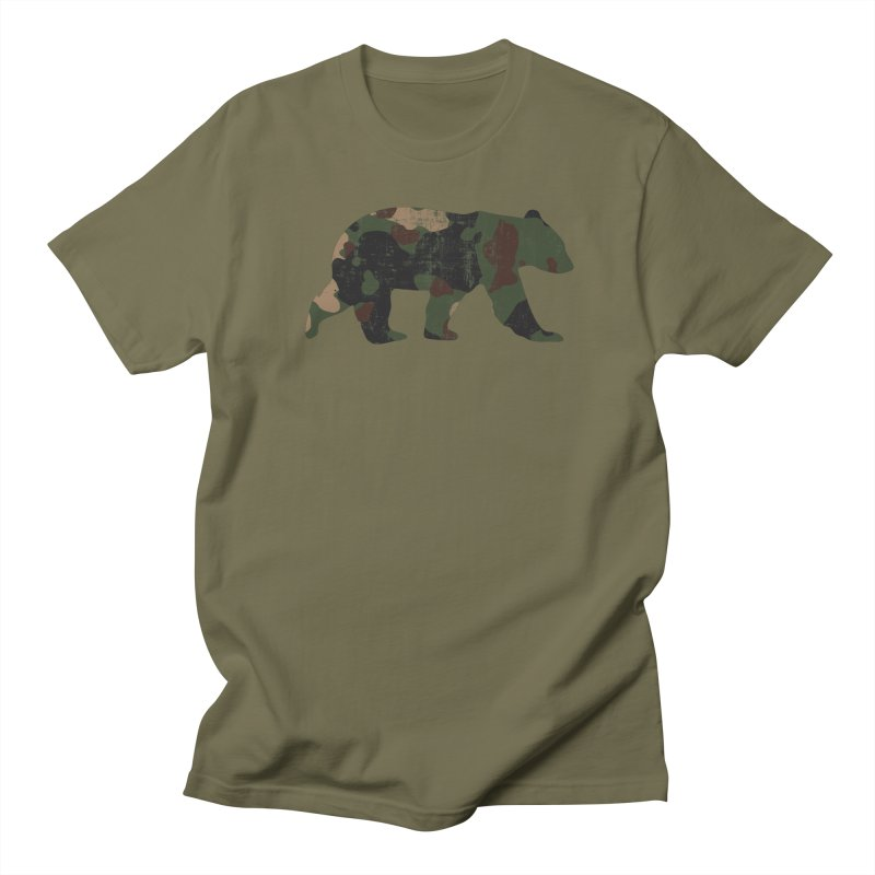Camouflage Bear Men's T-Shirt by The Bearly Brand