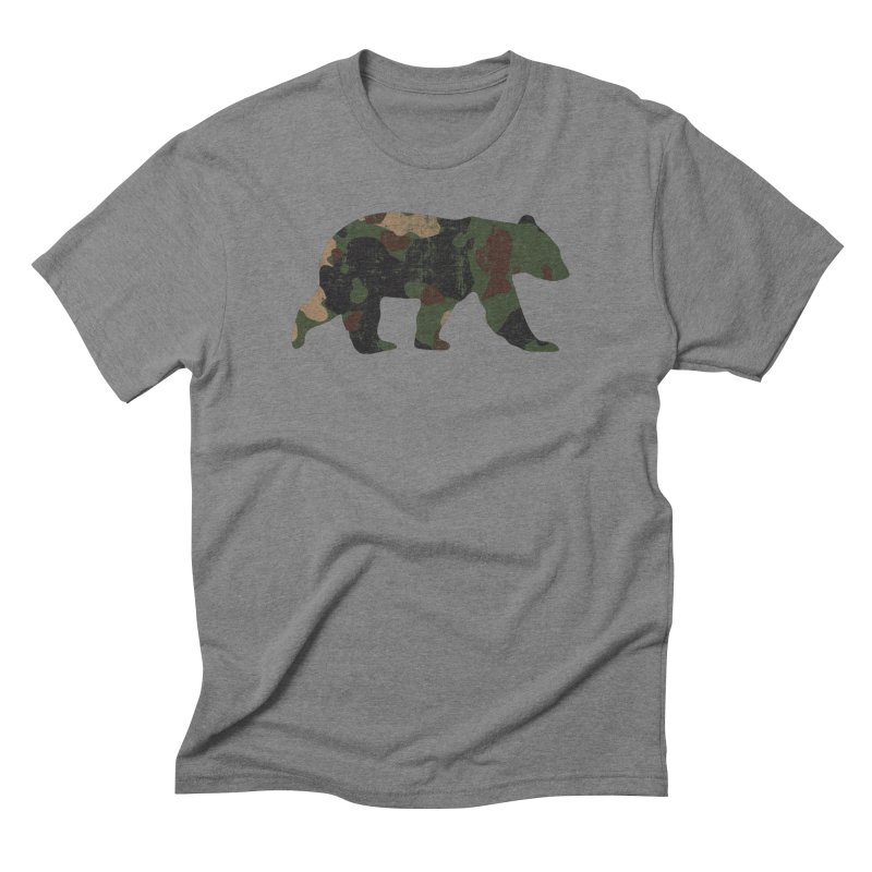 Camouflage Bear in Men's Triblend T-Shirt Grey Triblend by The Bearly Brand