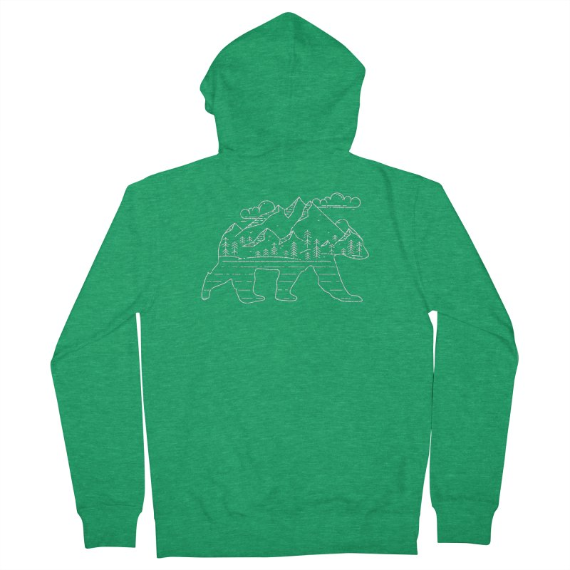 Mountain Scene Bear for Campers and Hikers Women's Zip-Up Hoody by The Bearly Brand