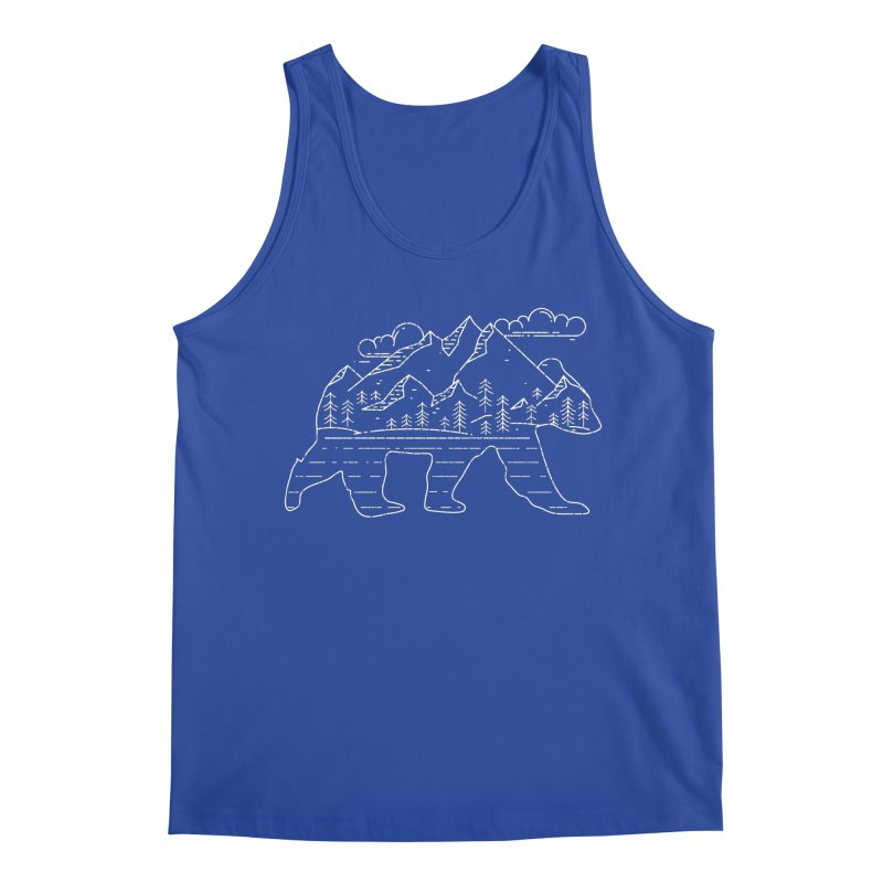 Mountain Scene Bear for Campers and Hikers Men's Tank by The Bearly Brand