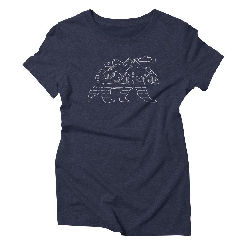 Mountain Scene Bear for Campers and Hikers Women's T-Shirt by The Bearly Brand