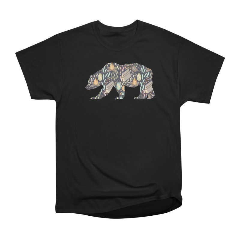 Camping Bear in Men's Heavyweight T-Shirt Black by The Bearly Brand