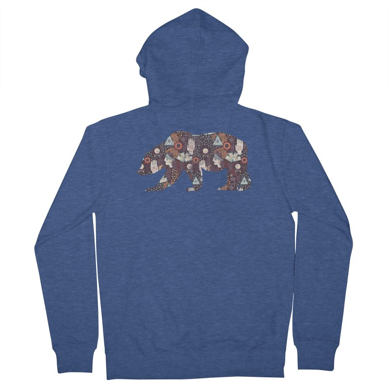 Fortune Teller Mystic Bear Psychic Men's Zip-Up Hoody by The Bearly Brand