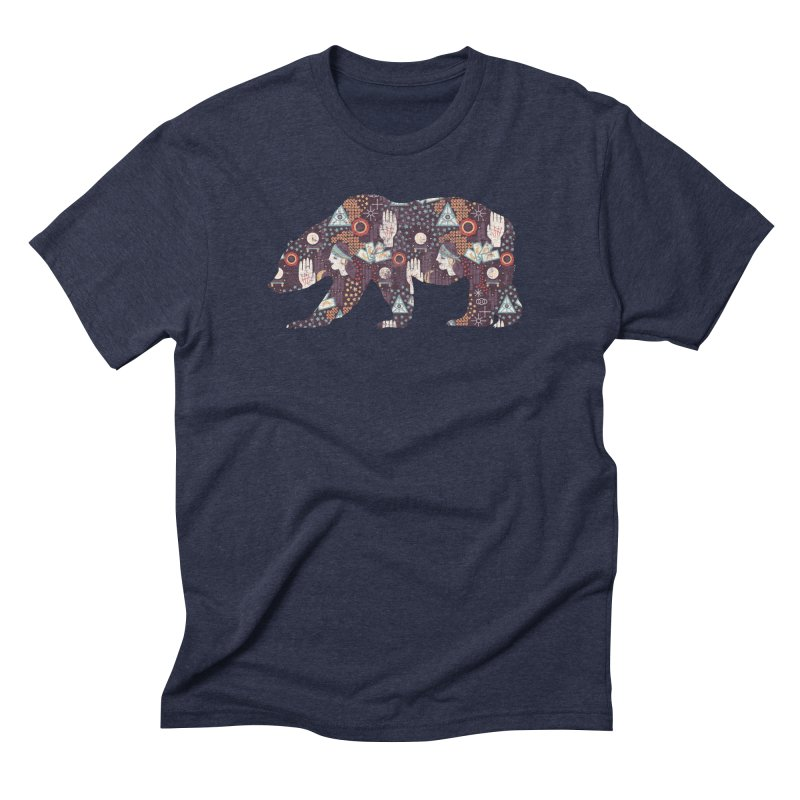 Fortune Teller Bear in Men's Triblend T-Shirt Navy by The Bearly Brand