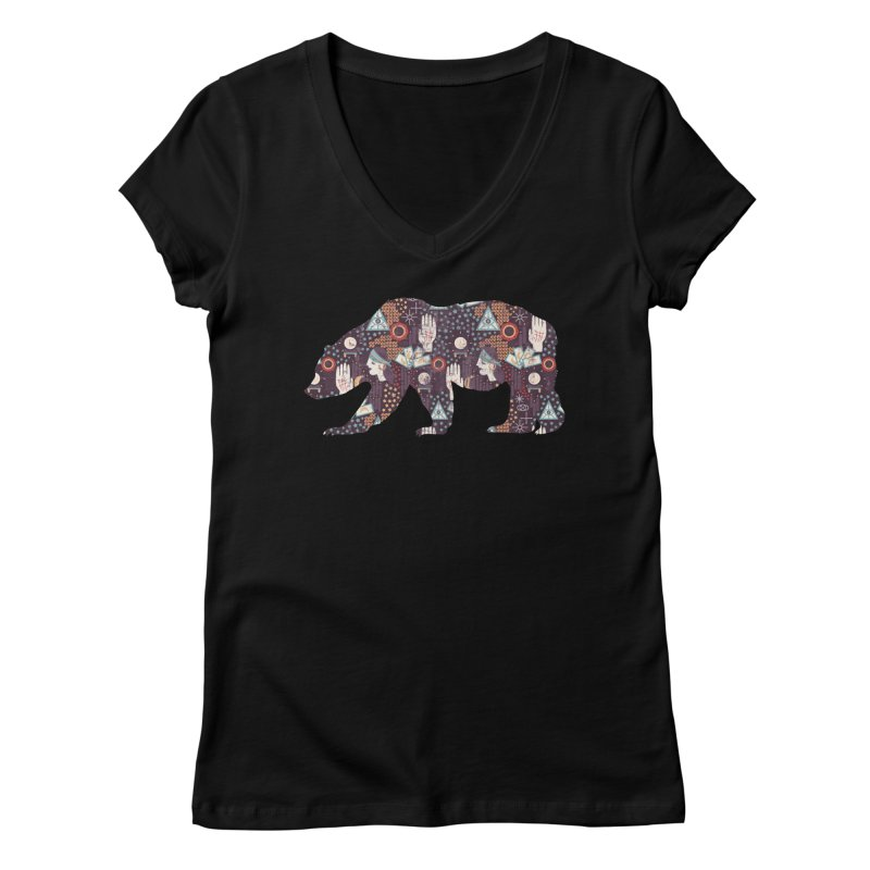 Fortune Teller Mystic Bear Psychic Women's V-Neck by The Bearly Brand